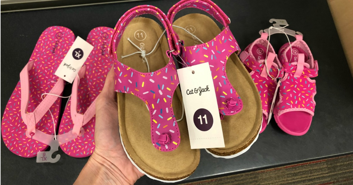 Save On New Cat Amp Jack Girls Sprinkle Sandals Amp Water Shoes At Target Fun For Nat L