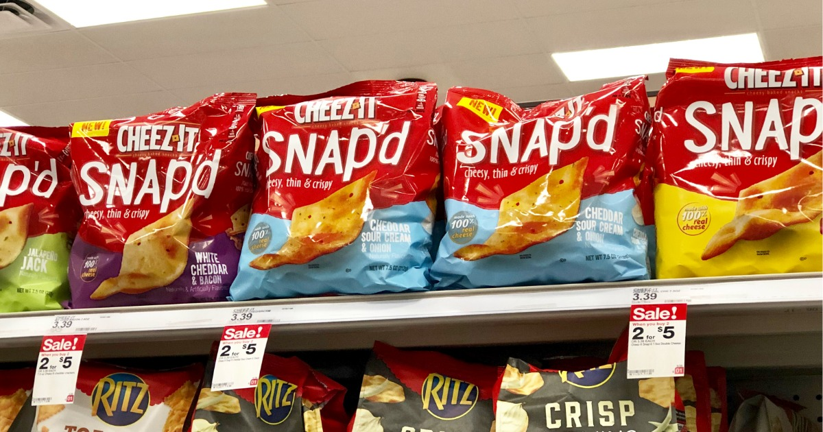 image about Cheez It Coupon Printable identified as Clean Cheez-It Snapd Treats Coupon \u003d Simply just $1 When Hard cash Back again