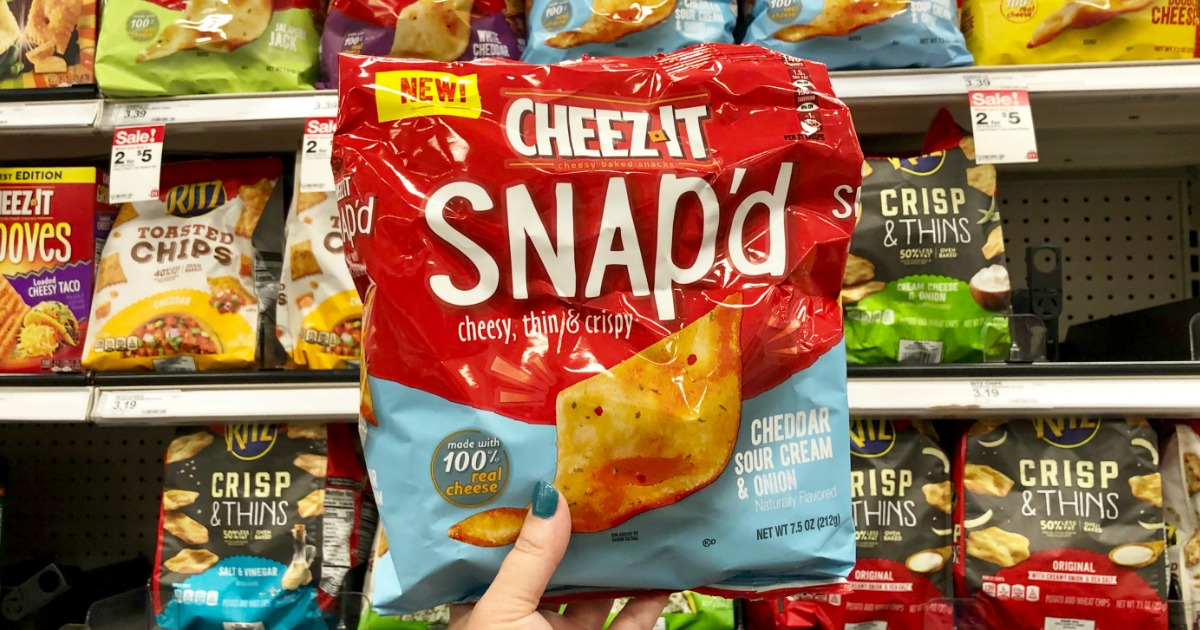 picture regarding Cheez It Coupon Printable called Fresh new Cheez-It Snapd Treats Coupon \u003d Simply just $1 The moment Dollars Back again