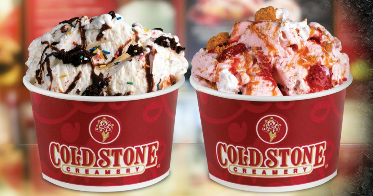 two bowls of Cold Stone Creamery ice cream