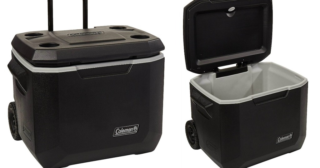 Coleman 50Qt Xtreme Cooler closed and open