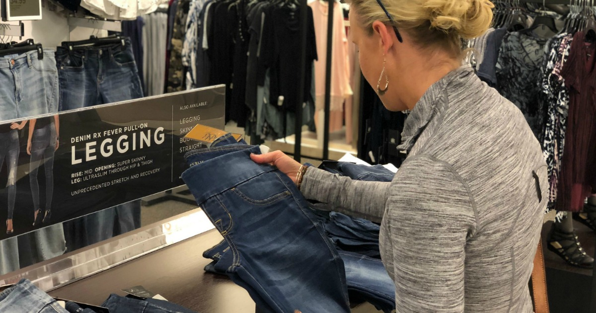 Collin shopping for jeans at Kohl's