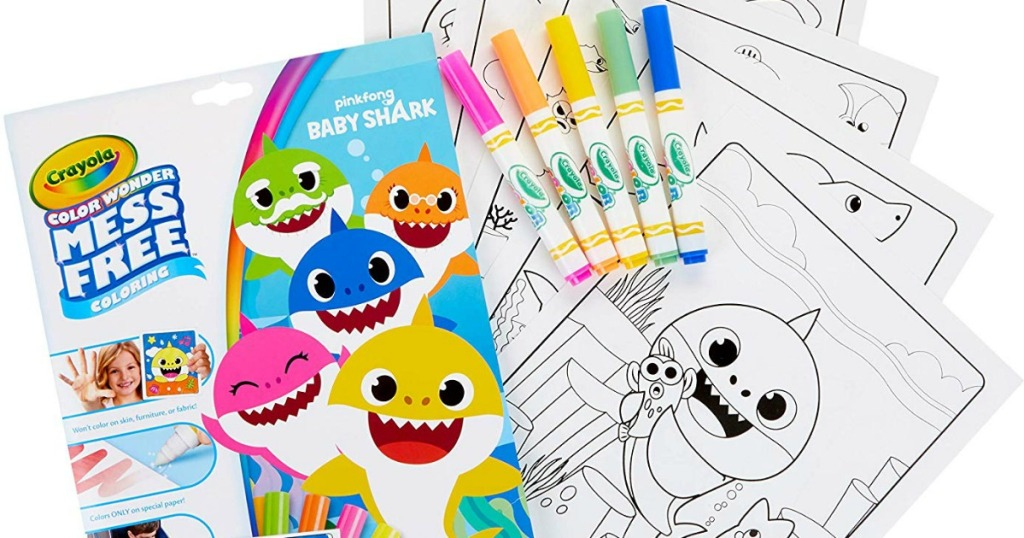 Crayola Color Wonder Markers & Baby Shark Coloring Sheets ...