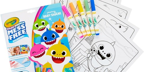 Crayola Color Wonder Markers & Baby Shark Coloring Sheets Set Only $6.79
