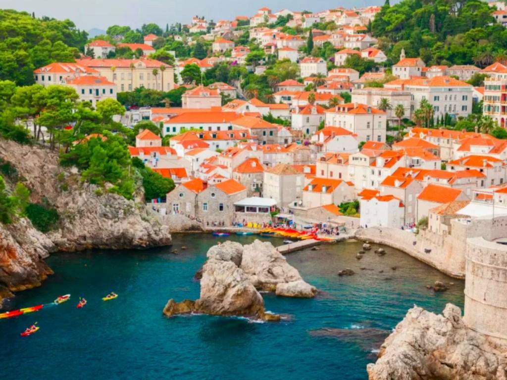 Croatia Houses and lagoon