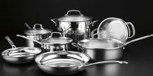 Cuisinart 11-Piece Stainless Steel Cookware Set from $97.99 Shipped + Earn $10 Kohl's Cash