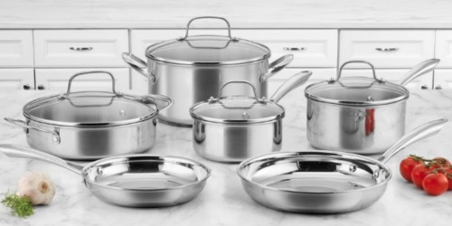 Cuisinart 10-Piece Cookware Set Only $159.88 Shipped & More