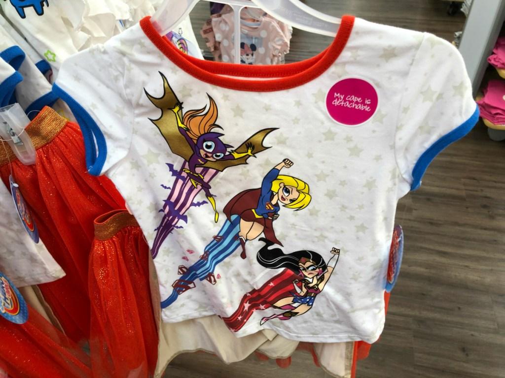 DC Superhero Little Girls/Big Girls 2-Piece Outfit Set