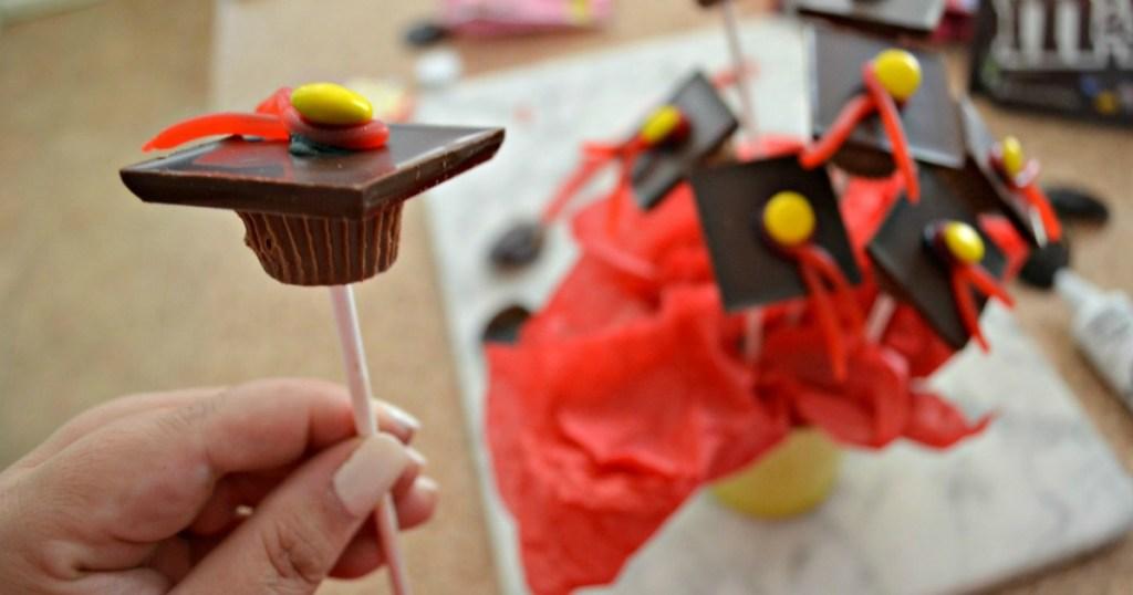 DIY Chocolate Graduation Party Caps