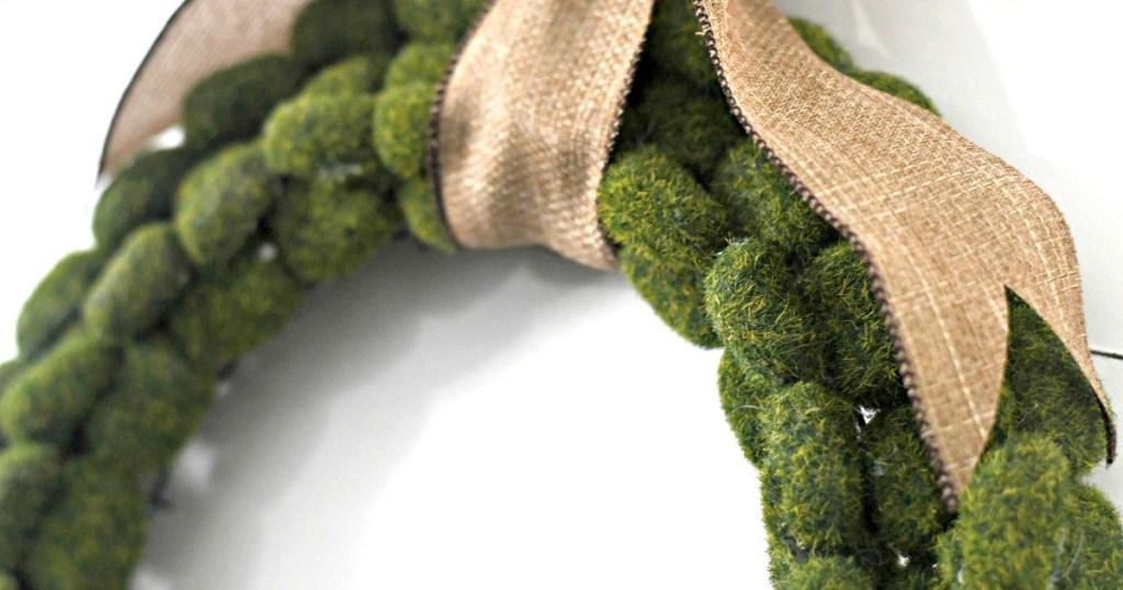 diy moss wreath dollar tree project
