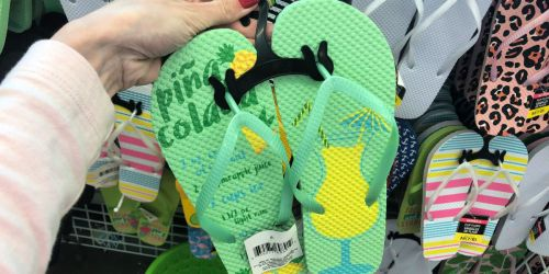 Women's Cocktail Inspired Flip Flops Only $1 at Dollar Tree