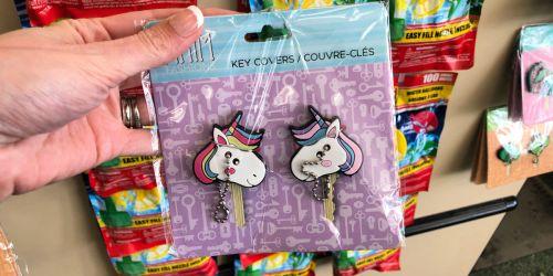 Cute Key Covers Just $1 at Dollar Tree (Unicorns, Mermaids, Cacti & More)