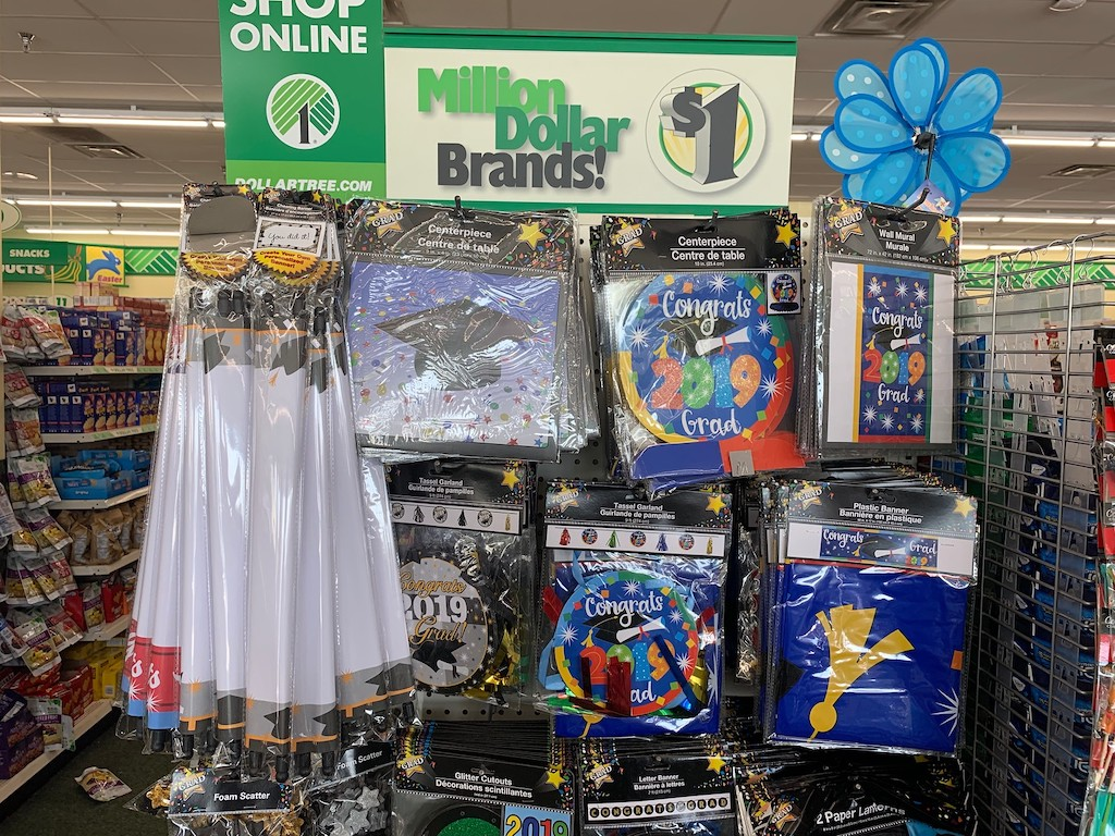 Graduation Party Supplies at Dollar Tree