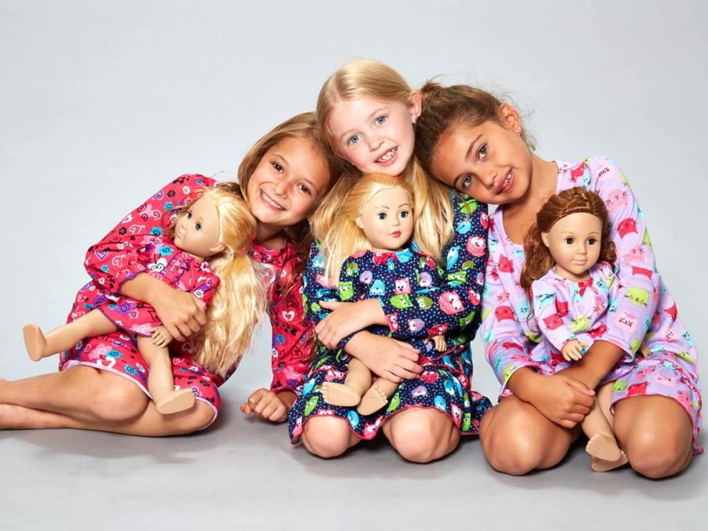 Dollie & Me matching pajamas