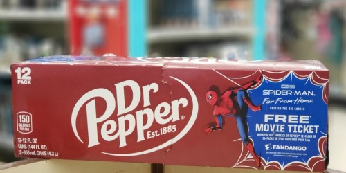 Three Dr. Pepper 12-Packs AND Movie Ticket Under $10 at Walgreens