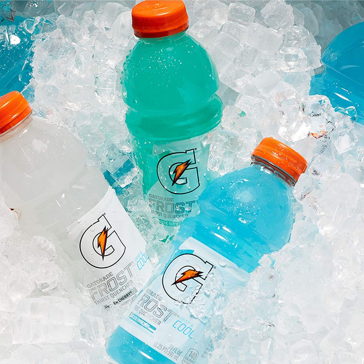 Gatorade Frost Bottle on ice