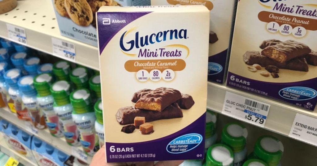 Glucerna in front of shelf