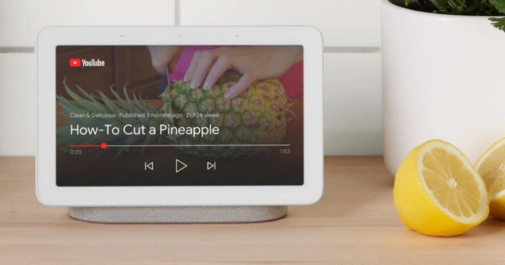Google Home Hub on counter