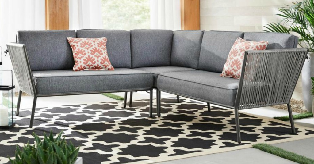 Hampton Bay Outdoor Sectional Only 359 Shipped Regularly 500