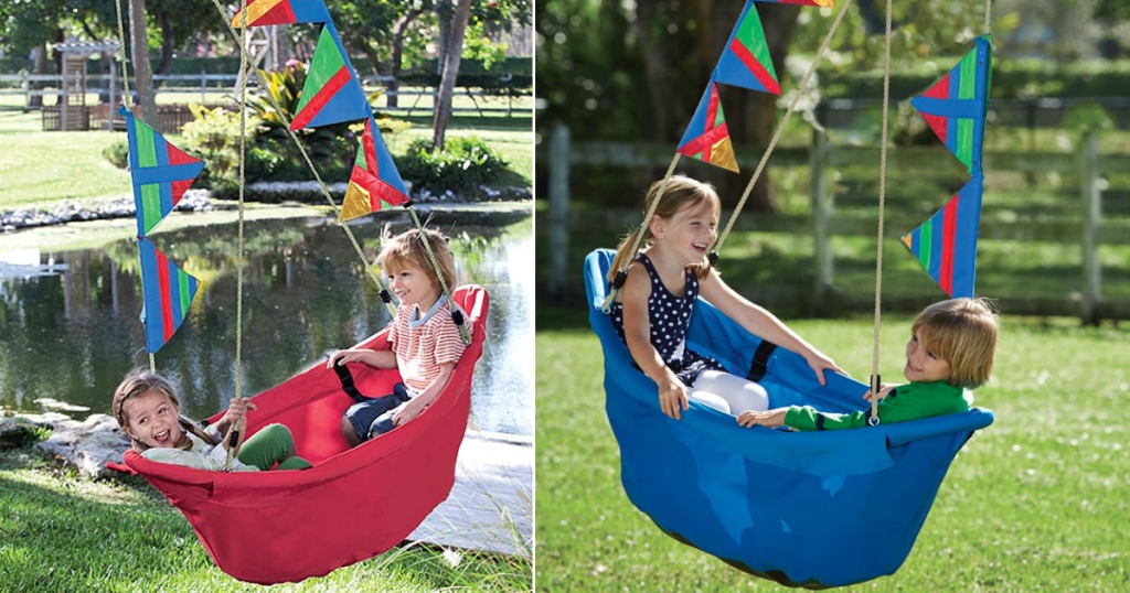HearthSong Kids' Boat Swing