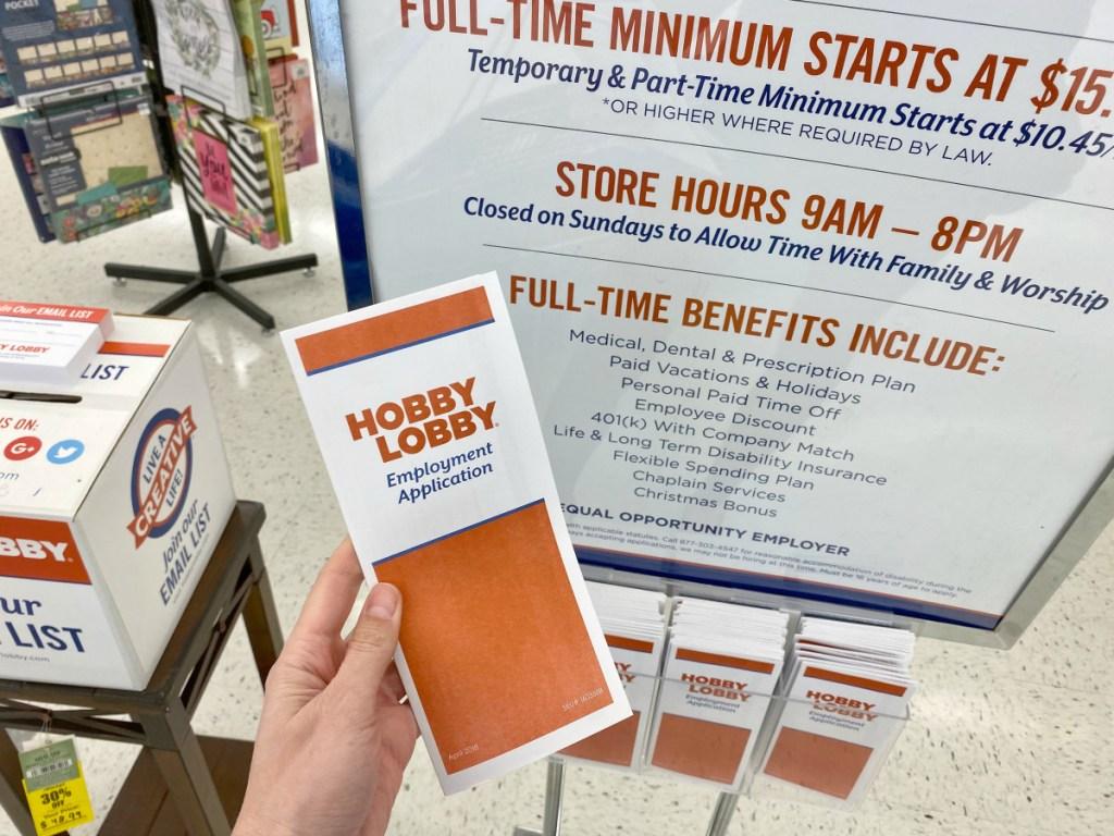 Hobby Lobby Tips - Employment