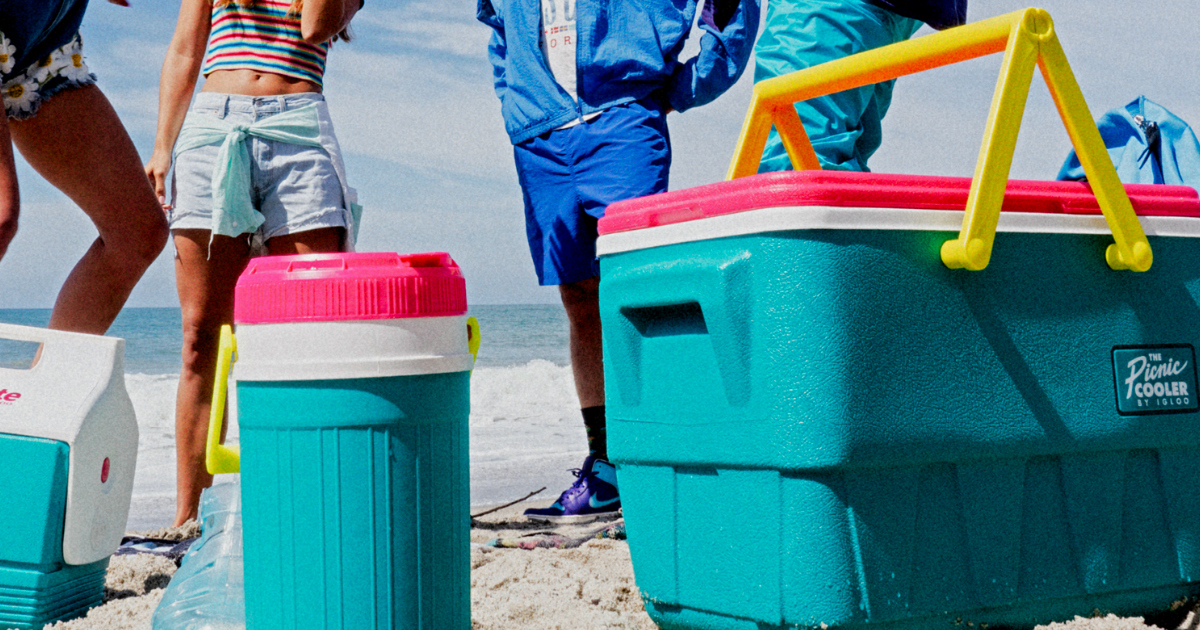 Igloo throwback collection coolers