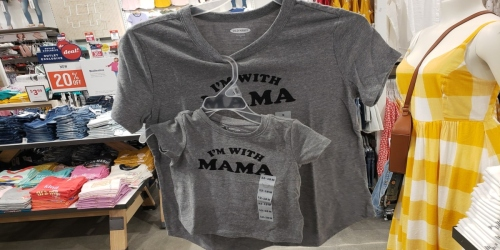 Old Navy Mom & Mini Me Tees ONLY $3-$5 (In-Store & Online)