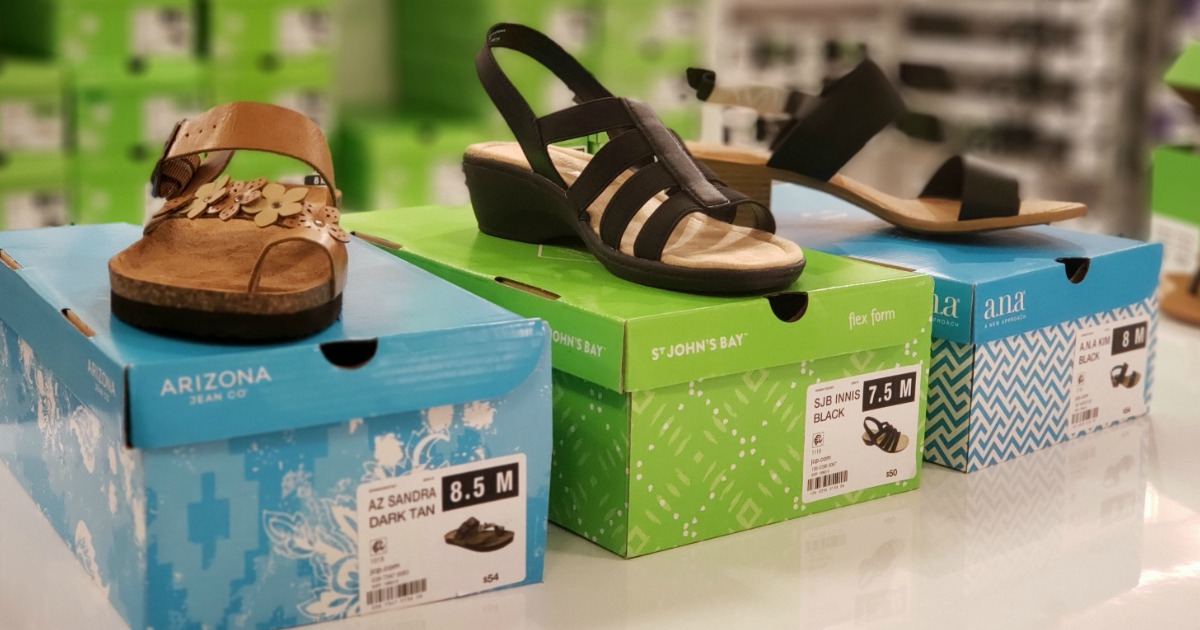 Sandals at JCPenney