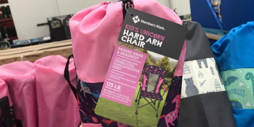 Member's Mark Portable Kids Chair Only $14.98 at Sam's Club (Unicorn, Dino & More)