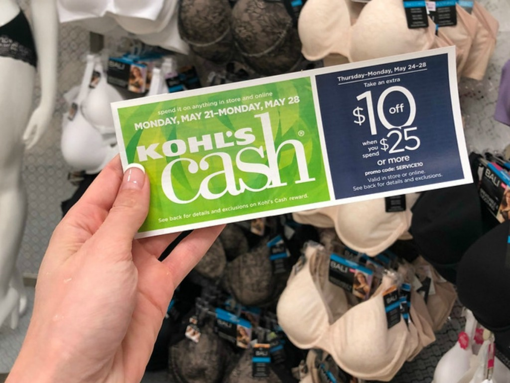 woman holding kohl's cash