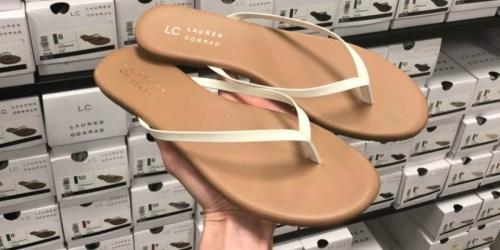 LC Lauren Conrad Women's Flip Flops Just $5.94 at Kohl's (Regularly $17) + More