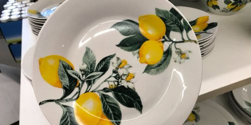 Lemon Dinnerware Collection Only $1 at Dollar Tree