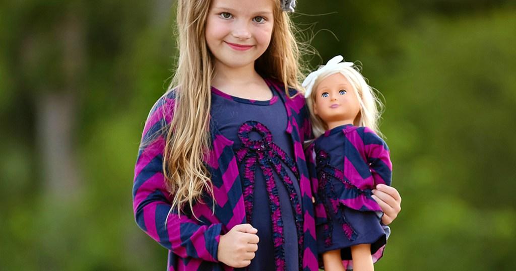 Lilli Lovebird matching girl doll outfits