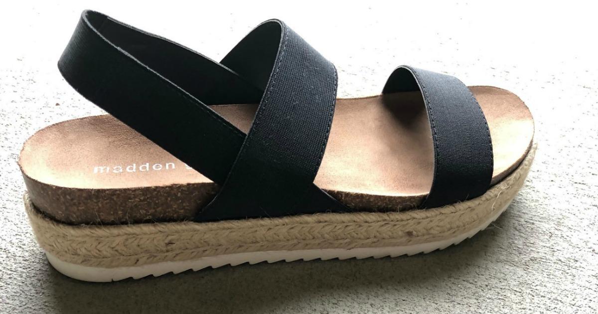 madden girl black strap sandals