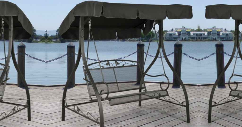 Marvelous Mainstays Wrought Iron Porch Swing W Canopy Only 104 99 Gamerscity Chair Design For Home Gamerscityorg
