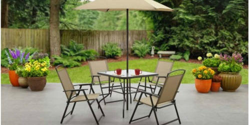 Mainstays 6-Piece Outdoor Dining Set Only $99.99 Shipped