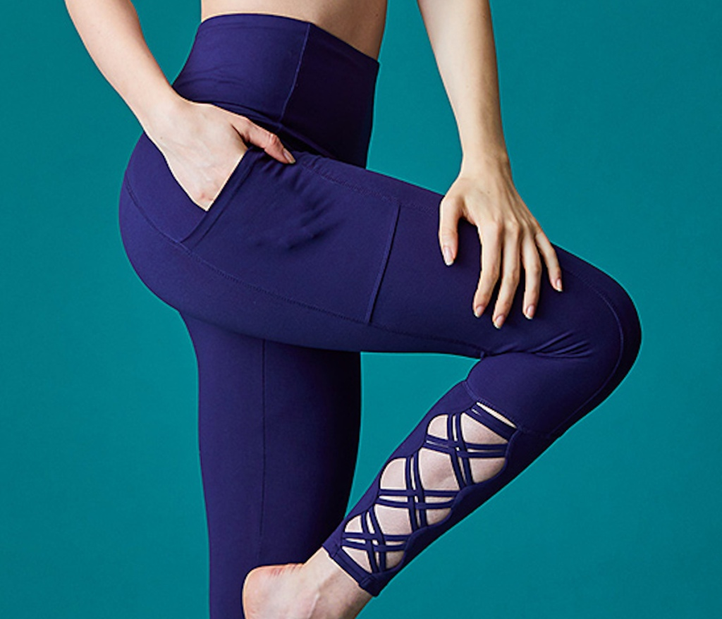 afea9f25a1a5c1 Marika Heather Eclipse Pocket High-Waist Tummy Control Leggings Only $11.99  (regularly $60)