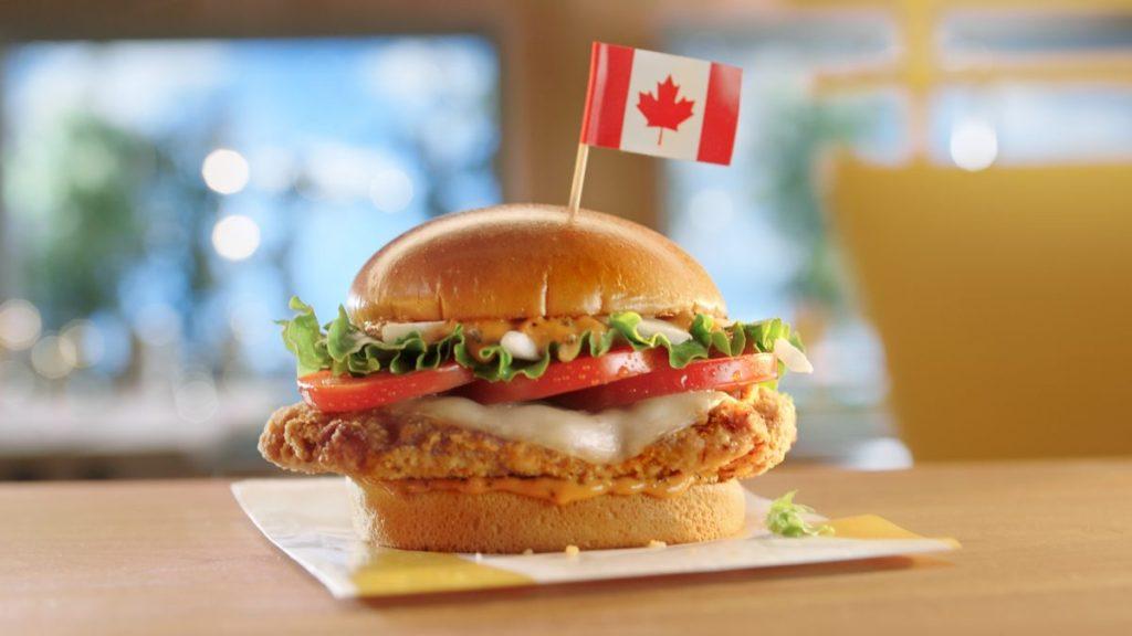 McDonalds Tomato Mozzarella Chicken Sandwich