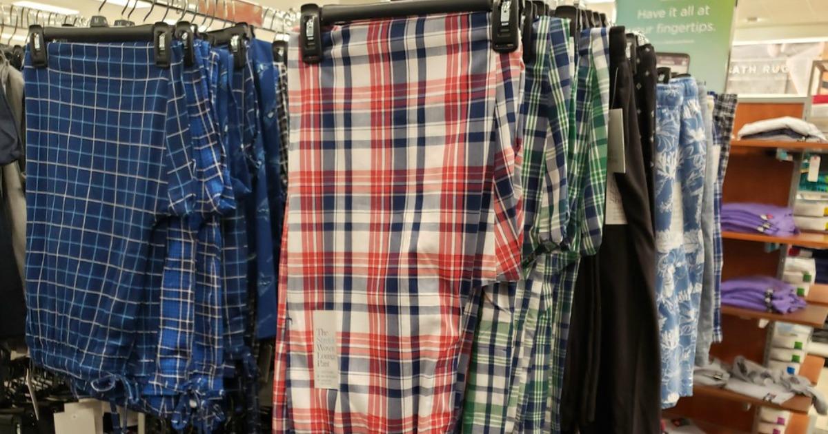 Mens Pajama pants hanging at Kohl's