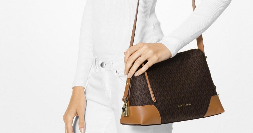 f04a141c432c Here are just a few deals to consider… Michael Kors Crosby Signature  Messenger Shoulder Bag