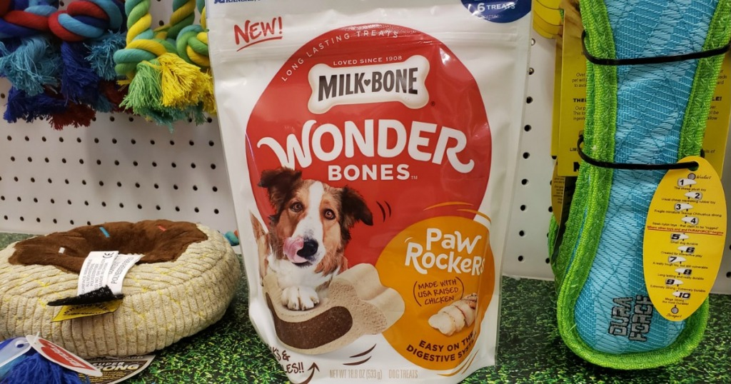 milk-bone wonder bones on shelf at target