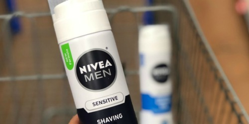 NIVEA Men's Sensitive Shaving Foam 6-Count Only $8.50 Shipped on Amazon | Just $1.42 Each