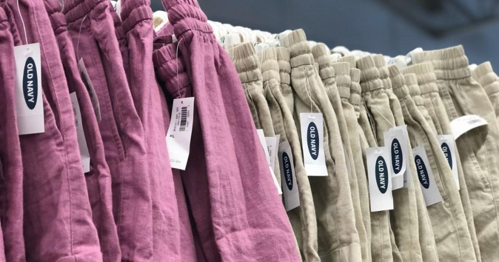 old navy women's linen shorts