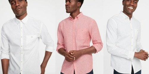 Old Navy Men's Linen Shirts Only $10 (Regularly $30) & More Today Only Deals