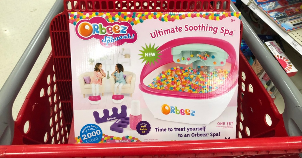 Orbeez spa in a Target cart