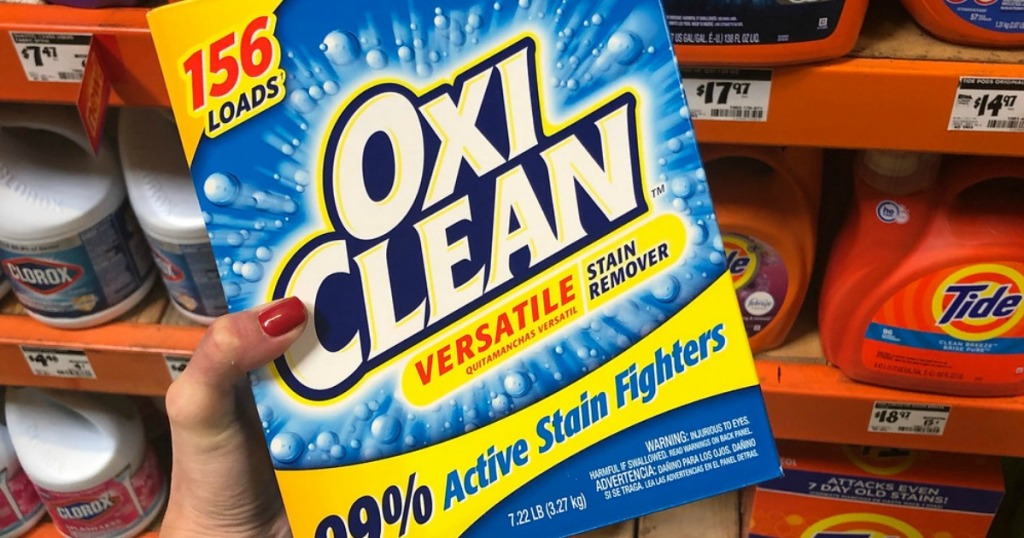 Oxiclean Versatile Stain Remover 7 Pound Box Just 6 At Home Depot