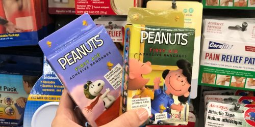 Peanuts Themed 20 Count Bandages Just $1 at Dollar Tree