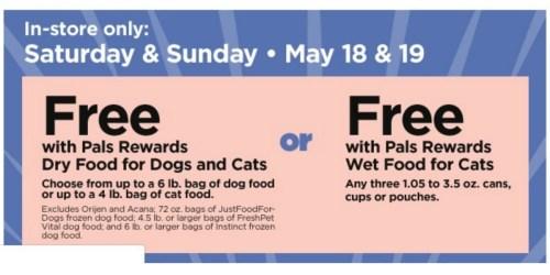Free Pet Food at Petco (5/18 & 5/19)