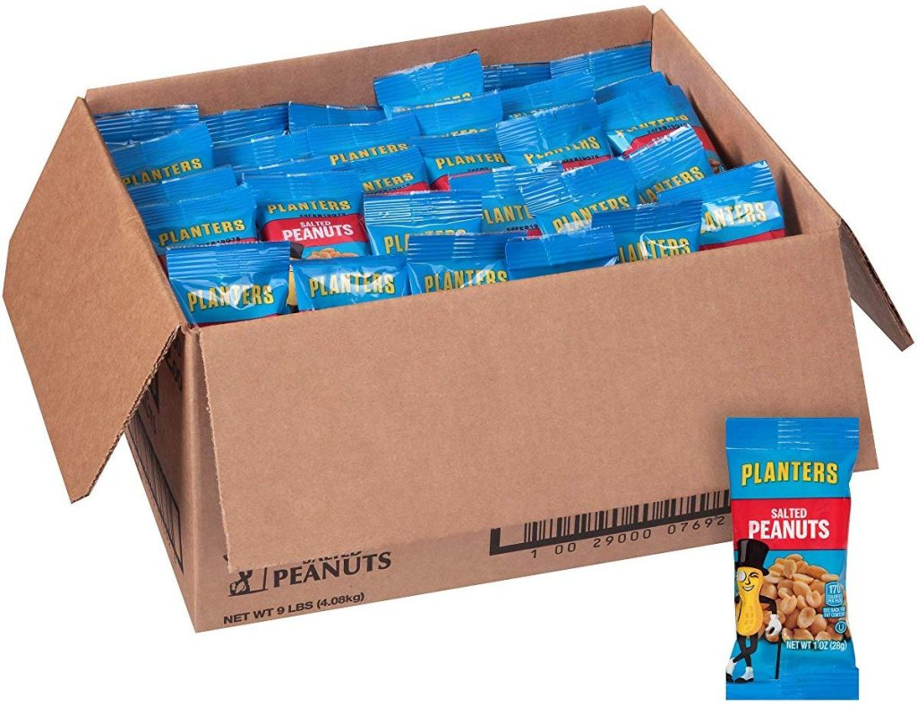Planters Salted Peanuts in a box