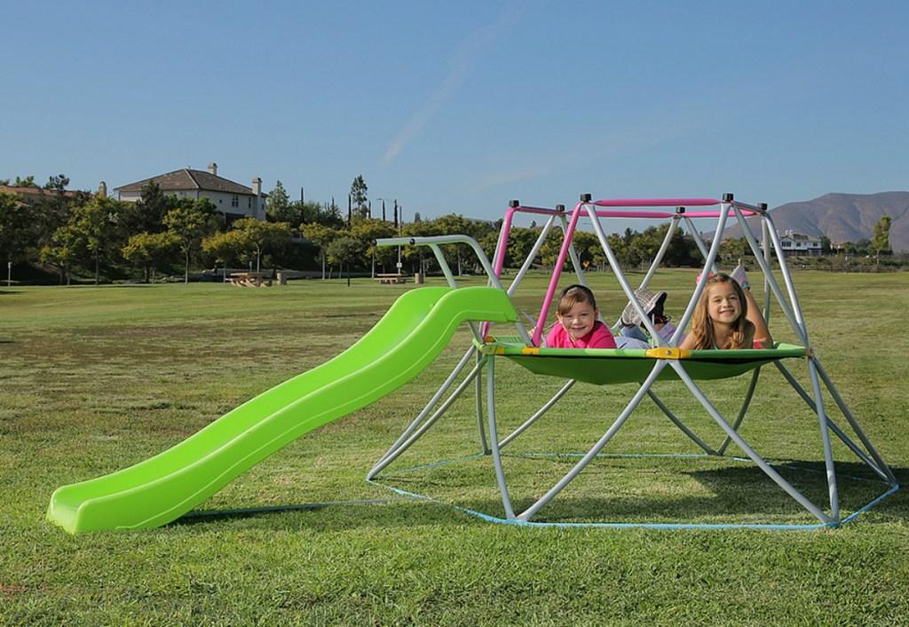 Platports Pink & Green Slide Dome Climber